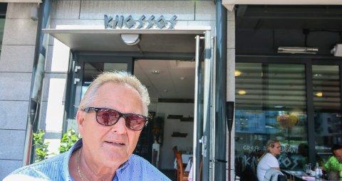 Verst hjem: Leif Eriksen kom seg greit til måltidet på Knossos, men synes det var verre med lokalkunnskapen til taxisjåføren da familien skulle hjem.
