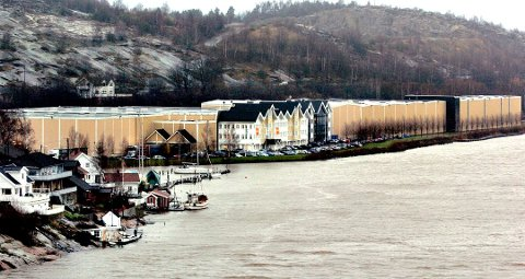 Flytter: Lager- og administrasjosbygningene på til sammen 24.000 kvadratmeter på Lahelle blir stående tomme når Europris flytter ut. Om noen år kan det bli boliger på området.