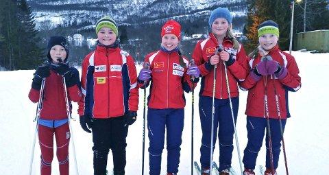 GIKK: Noen av de unge deltakerne fra Bjerkvik.