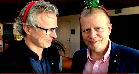 Ansettelse av ny NHO-direktør er ennå ikke avgjort, og inntil videre er det NHOs regiondirektør for Østfold, Roald Gulbrandsen (t.h.), som er konstituert i stillingen etter Skinstad.