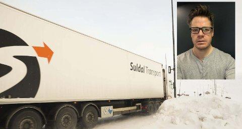 Positivt resultat: Avdelingskontoret i Odda har skapt et positivt resultat for Suldal Transport, sier daglig leder Rune Furseth. Transportselskapet har 13 sjåfører i Odda, her er en av bilene på vei over Haukelifjell.