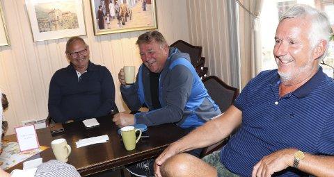 Roar Kleivhaug, Frank Stuvland og Karl Petter Moen er en del av kaffegjengen som møtes på Kulturverkstedet i Mosjøen hver morgen klokka 9.