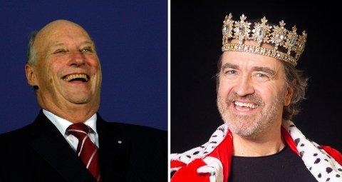 Harald Troøyen digger at han nå har fått svar fra kongen to ganger om sin musikk. Her er kong Harald i godt humør under statsbesøk i Pretoria Sør-Afrika.