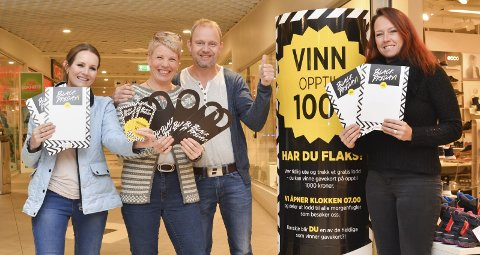 På Amfi Kragerø er alt klart for årets kanskje villeste handledag. F.v.: Kristin Myrstrand, Anja Vegheim, Grunde Knudsen og Marit Louise W. Martinsen.