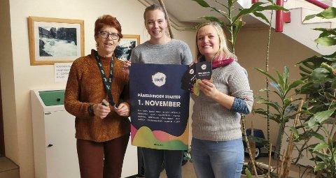 LOKALE ARRANGØRER: Solfrid Holtan (t.v.), Cathrine Tveiten og Kristine Engell Løkamoen fra Numedal er klare for å ta imot påmeldinger.