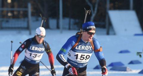 TI TREFF: Herman Dramdal Borge skjøt feilfritt på søndagens skiskyttersprint på Geilo. FOTO: OLE JOHN HOSTVEDT