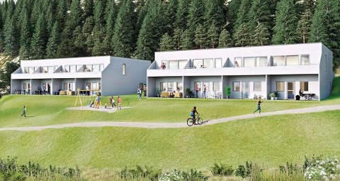 REKKEHUS: Boligprosjektet i Skjæret 1 i Sylling ble relansert før sommeren med mindre og mer effektive leiligheter.
