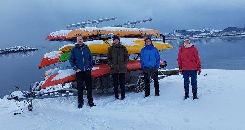 Styremedlemmene Morten Eilertsen, Espen Seierstad og Peter Andersen samt styreleder Martine Wicklund Musæus.