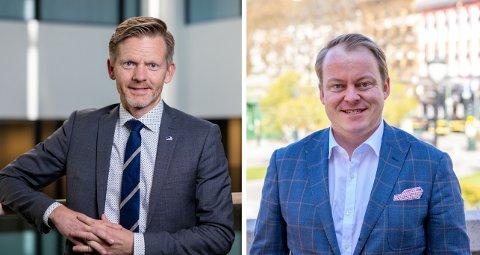 TAKKER JA: Stortingsrepresentant Tage Pettersen (H) og Erlend Wiborg takker ja til tilbudet om å vaksinedose i løpet av denne uka.
