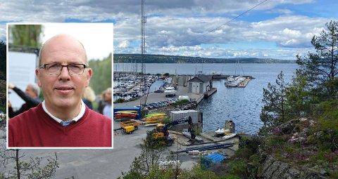 HAVNE-JA: Politikerne i Søndre Nordstrand har sagt ja til småbåthavn og fjordsenter på Ljansbruket. BU-leder Ola Mannsåker (innfelt) og Ap sikret flertall.