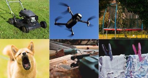 TI PÅ TOPP: Mange har vært hjemme i sommer og dermed har flere også fått naboene tettere på seg. Gressklipping, droner, trampoliner og klesvask, er noe av det folk irriterer seg over hos naboene.