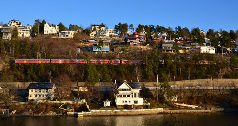 NEDRE BEKKELAGET: Bildet viser midtpunktet mellom Ulvøya og Nordstrand Bad, området  hvor det ble påvist erosjon i grunnen i fjor høst.
