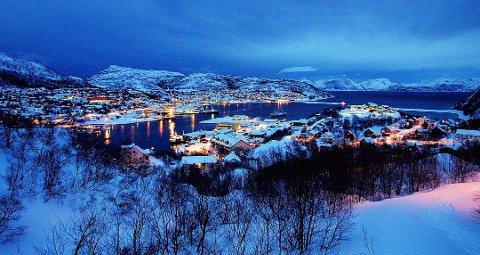 Oversiktsbilde fra Skjervøy.