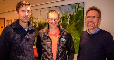 FOLKEHELSE: Frisklivsveileder Roger Vestrum (f.v.) og avdelingslederne Stein Bollum og Kjetil Bjerke ønsker Søndre lands mange diabetikere velkommen på livsmestringskurs.