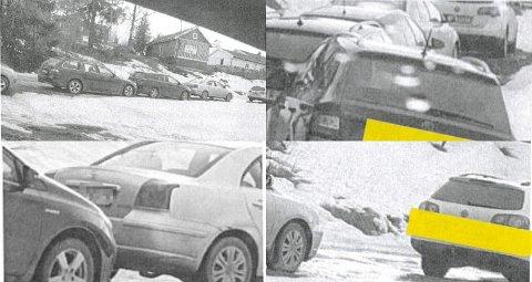 IDENTIFISERENDE: Bilder av biler avslører flere personer som var til stede da Hans Kristian Gaarder avholdt treff i Kulturlåven på Gran palmehelga. Gaarder og en kvinne i  70-årene døde etter påske med covid-19-viruset i kroppen.