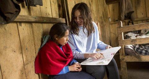 SKOLEBARN: Daysi går på barneskolen i Chimborazo sammen med søsknene Dennis og Nestor.