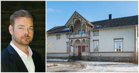 SPESIELLE EVNER: Michael Winger er klarsynt medium, forfatter og kjent fra TV og film. Nå har han flyttet til Løten og gamle Brovold skole.