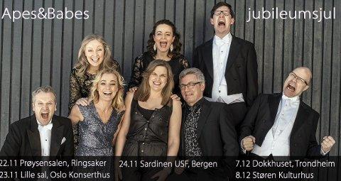 Apes & Babes: starter sin førjulskonsertturné med konsert i Prøysenhuset fredag klokka 18.