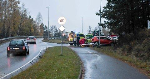 ULYKKE: Et barn ble kjørt bort etter hendelsen i Brumunddal onsdag morgen.