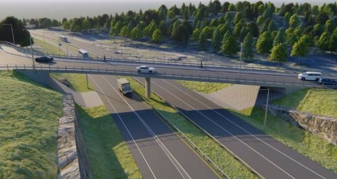 NYTT KRYSS: Slik er krysset ved Kleggerud ved Åsbygda planlagt.