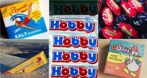 Stupedama, Melkesjokolade, Hobby, Dumle og Gomp er populært på lørdagskvelden. Foto: Instagram/Scanpix