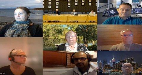 FORMANNSKAPET: I Ullensaker kommune møttes torsdag ettermiddag over Teams for å diskutere nye koronaregler.