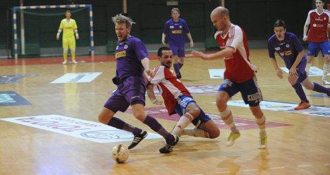 GOD KAMP: Niklas Espegren og Sandefjord Futsal sikret poeng i toppkampen mot Sjarmtrollan. Arkivfoto