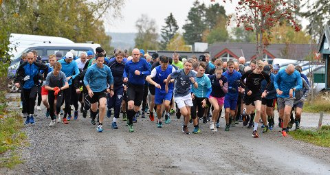 GOD DELTAKELSE: Også denne uken var det bra deltakelse i Torsdagsløpet.