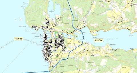 TAU: Det nye postnummeret gjelder områder ved Tau som ligger utenfor selve tettstedet Tau.