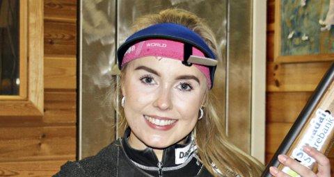 Best på smøla: Eline Lillegård fra Hjelmen var best da banesesongen startet på Smøla lørdag.