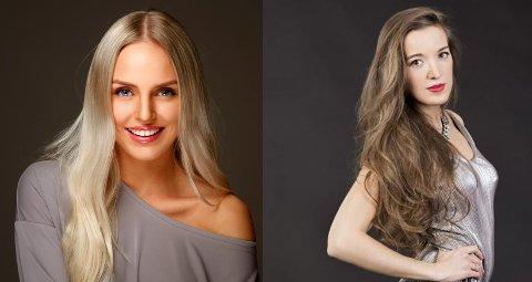 SEMIFINALISTER: Vilde A. Bø fra Tønsberg (venstre) og Juliana Martinsen fra Nøtterøy er begge videre til semifinalen i Miss Norway 2017.