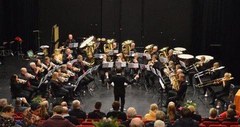 Grieghallen: Valdres Brass Band ble nummer 12 i årets NM, i 3. divisjon.