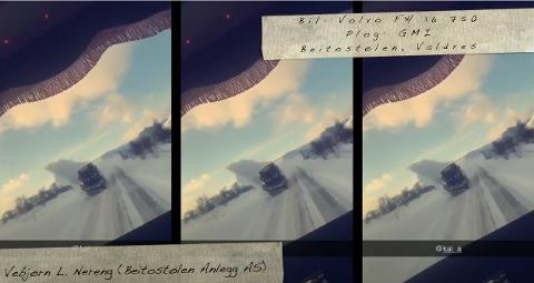 Lokalt bidrag: Brøytebilsjåfører fra hele Skandinavia har sendt inn videoklipp som viser arbeidshverdagen på vinterføre. Også lokale brøytebilsjåfører har bidratt, som her fra Beitostølen.