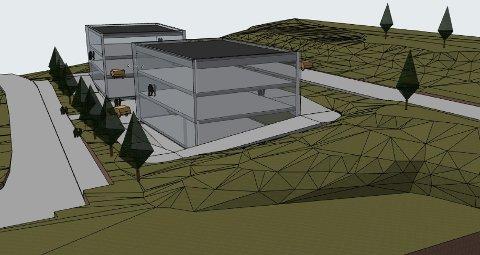 UTBYGGING: Kommunen har hatt forhåndskonferanse med Meinich Arkitekter AS om mulig utbygging med undergrunns pakeringskjeller med to kontorbygg av 400 kvadratmeter hver i Bjertnestangen 8 og 10.