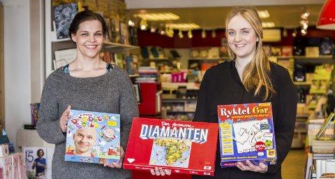 Påskespill: «Den forsvunne diamanten» ble laget av finnen Kari Mannerla i 1951. Over 60 år etter er det det spillet det selges mest av i bokhandelen i Risør. Annette A. Aspesæter anbefaler  «Øisteins blyant: drodlespill» til barn og Anette Klock Lindstøl får ikke skrytt nok av «Ryktet går» for hele familien.