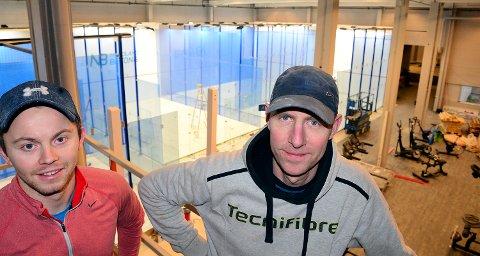 Martin Rindahl er styreleder og Jesper Bering Bak er daglig leder for Bodø Squash AS.