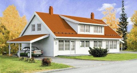 TOMANNSBOLIGER: Dette er hustypen som skal settes opp på Nerstad. I alt blir det seks boenheter fordelt på tre tomannsboliger.