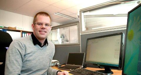 NYTT PROSJEKT: Håvard Lillebo er i gang med et helt nytt prosjekt i Narvik. Denne gangen handler det om nanoteknologi.