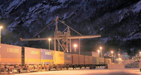 Kjapt: 29 timer vil det ta for toget med fisk fra Narvik å forsere strekningen ned til Sør-Sverige og Malmø. Arkivfoto