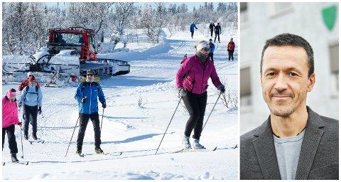 TRAFIKK: Øyer-ordfører Jon Halvor Midtmageli har aldri sett lignende trafikk i januar. Han forstår at mange trekkes mot hytta og skiløypene med smittesituasjonen i Oslo-området.