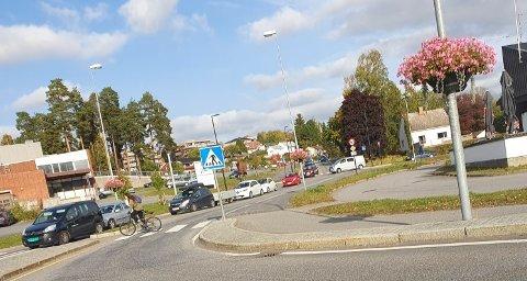 Slik så det ut i Eidems Gate ved 16-tiden tirsdag ettermiddag.