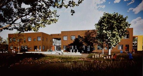 Fasadene på nye Otta skole skal i hovedsak bygges i tre.