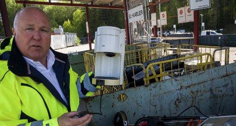 – FEIL: Kjell Olav Kolrud hos HRA mener det er feil å skylde på prisene hos HRA for å forklare dumping av søppel i naturen.