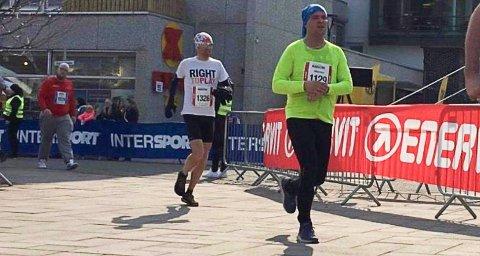 LØP MILA: Drøyt to måneder etter han begynte  trene, løp Marcus Johnsen 10 kilometer i Ski-løpet på 59,19.