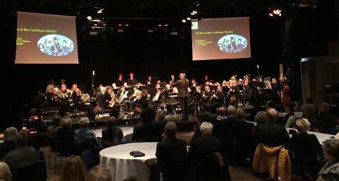 JUBILEUMSKONSERT: Haugesund janitsjarorkester ble stiftet for 100 år siden. Det ble feiret med jubileumskonsert i Maritim Hall.