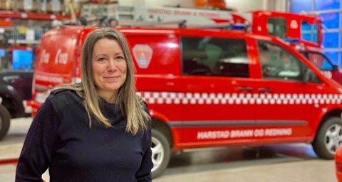 KARTLEGGING: 4. februar begynner arbeidet med å kartlegge fritidseiendommer i Harstad kommune forteller ingeniør i Harstad brann- og redningstjenesten Siv Bratteng