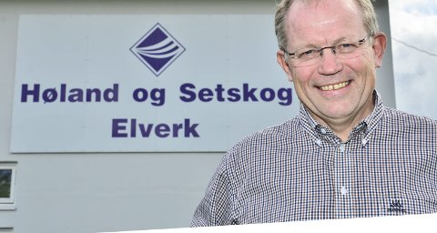 I full drift igjen: Høland og Setskog Elverks ansatte kan gå tilbake på jobb etter at streiken er avsluttet. Det gleder elverkssjef Geir Rismyhr.