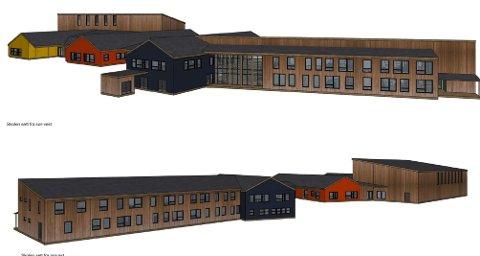 NY SKOLE: Slik blir nye Moan skole. Prislappen for ombygging av dagens skole blir 110 millioner.