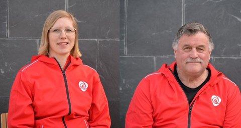 SER RØDT: Marit Stubberud Hanssen,  Gruppeleder for Senja Arbeiderparti, og partikollega Martin Ness skal slåss for hurtigbåten.