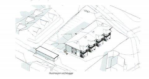 ILLUSTRASJON: Slik kan det bli når Alfarheim Eiendom bygger åtte boenheter på Solheim.
